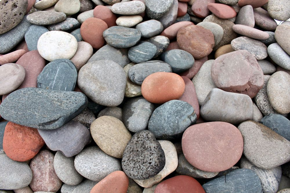 Cobbles pebbles river rock green stone company for Smooth landscaping rocks
